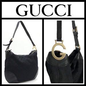 Authentic Gucci GG Charlotte Canvas Shoulder Bag